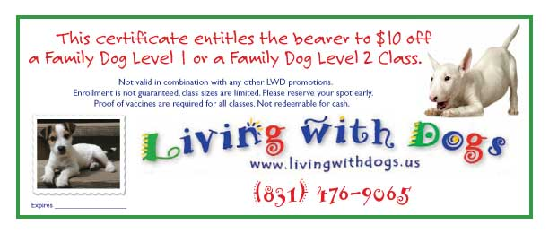 Living With Dogs coupon
