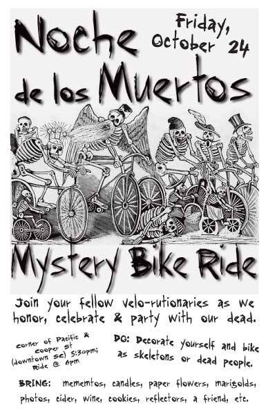 bike ride flyer