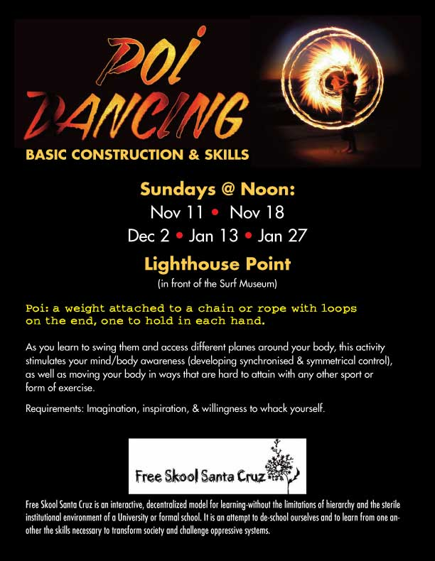 fire dancing flyer